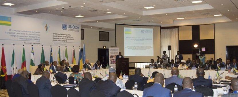 45eme réunion du Comité consultatif permanent des Nations Unies chargé des questions de sécurité en Afrique centrale. © DR