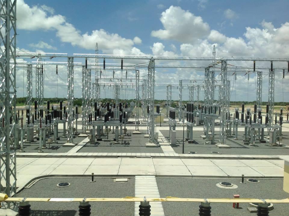 Une installation électrique de la Société nationale d'électricité. © SNE