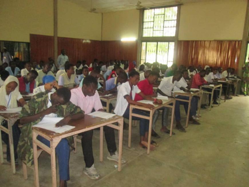 Composition des épreuves du baccalauréat au Tchad, le lundi 16 juillet 2018. © Alwihda Info
