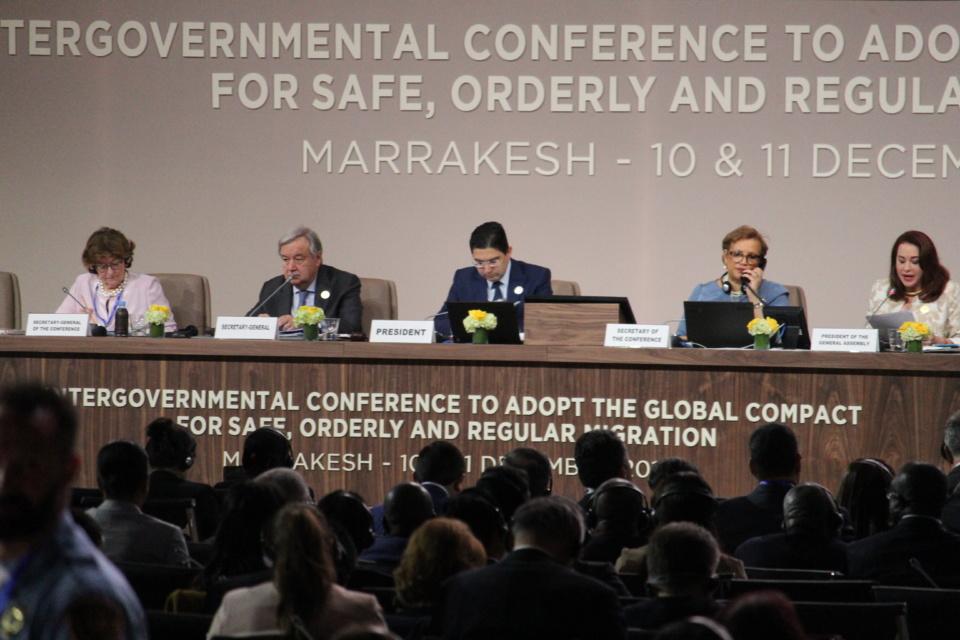 Une vue de la conférence intergouvernementale sur les migrations.