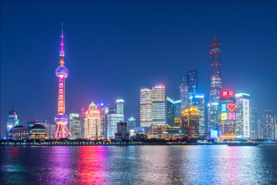 Photo taken on Dec. 19, 2017 shows the night view of Putong in Shanghai. (Photo from CFP)