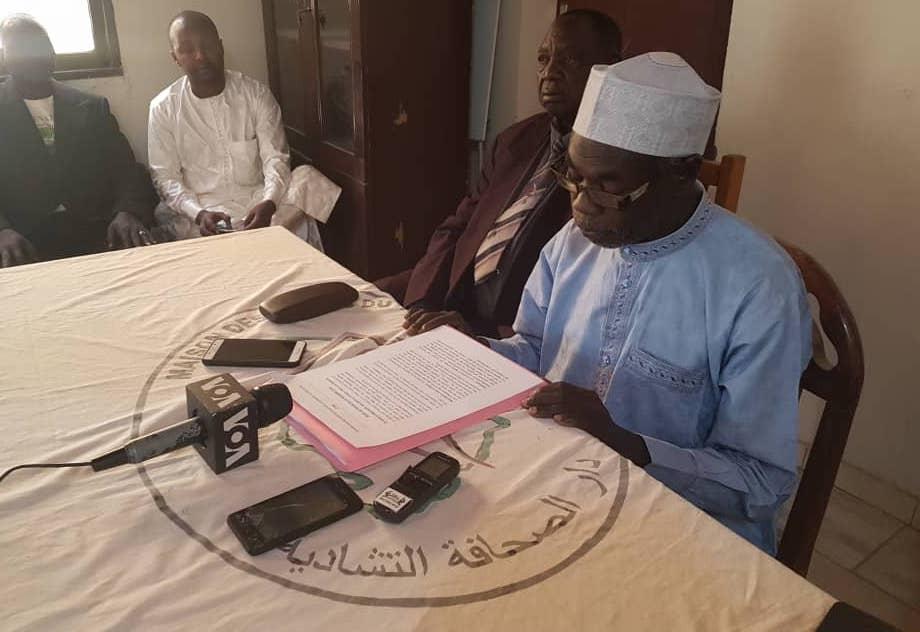Point de presse de la CPDC ce samedi 22 décembre à N'Djamena. © CPDC