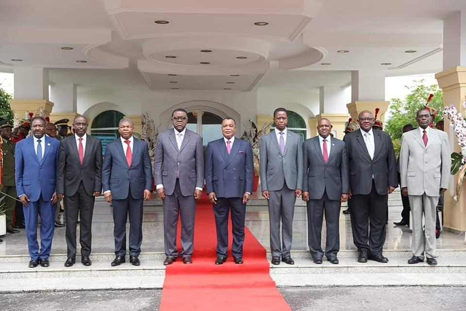 Les chefs d'Etat et de gouvernement présents à Brazzaville.
