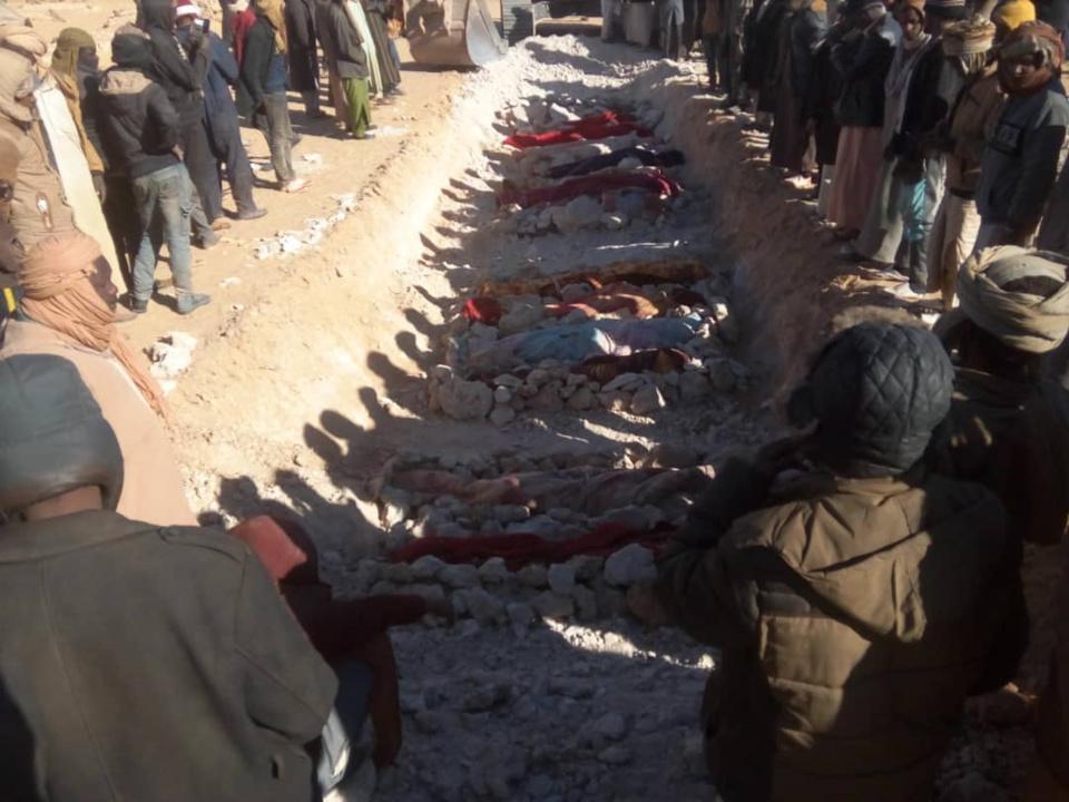 Des victimes d'affrontements intercommunautaires enterrées au Tchad. © Alwihda Info
