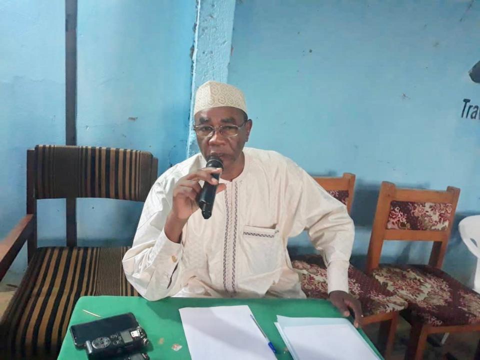 Le secrétaire général du Parti pour les Libertés et la Démocratie (PLD), Mahamat Ahmad-Alhabo. © Alwihda Info