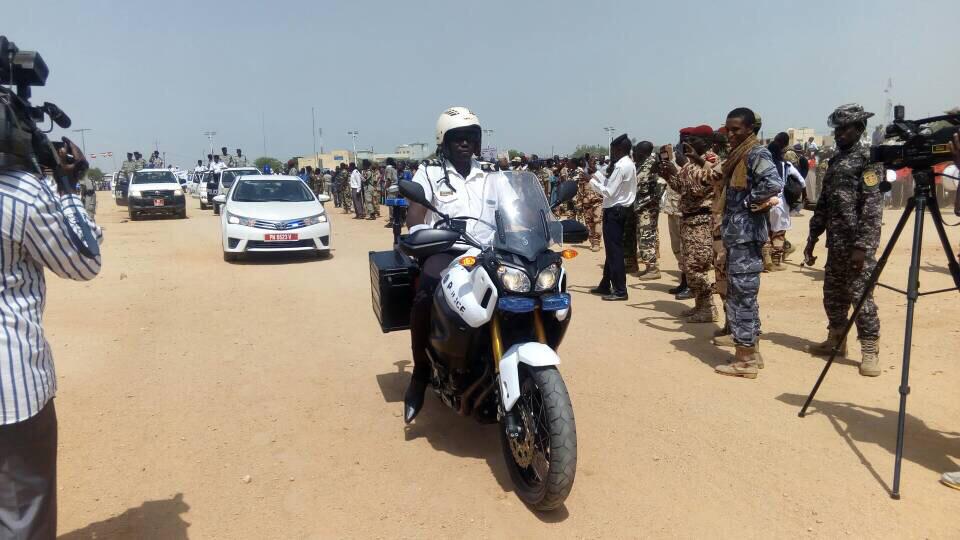 Une moto de police au Tchad. © Alwihda Info