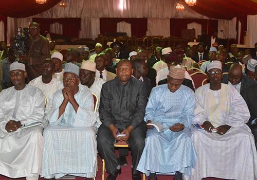 Des chefs de partis politiques réunis au Palais présidentiel à N'Djamena. © PR