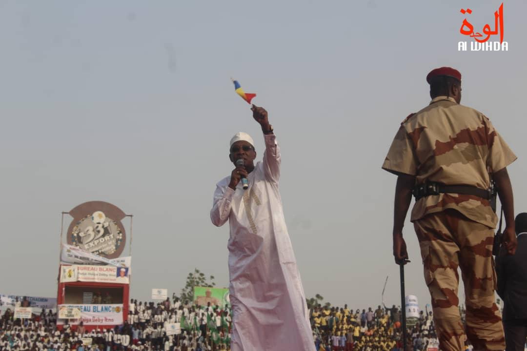 Meeting du président Idriss Déby ce vendredi 15 février à N'Djamena. © Alwihda Info