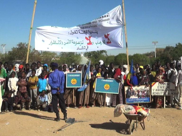 Tchad : une marche de soutien à l'armée à Abéché, ce mardi 19 février 2019. © Alwihda Info