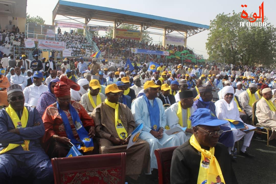 Meeting du chef de l'Etat au stade Idriss Mahamat Ouya. © Alwihda Info
