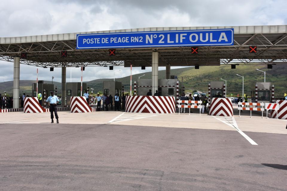 Le péage de Lifoula ou a été lancé la concession de la RN1.