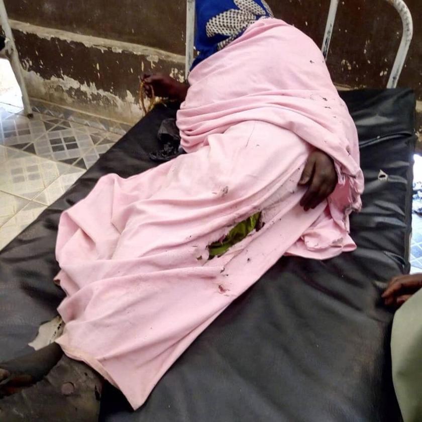 Une victime des tirs lors d'une manifestation de protestation à Abéché. © DR