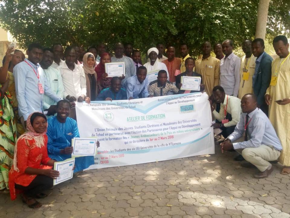 Tchad : des jeunes formés sur la paix en milieu universitaire. © Alwihda Info