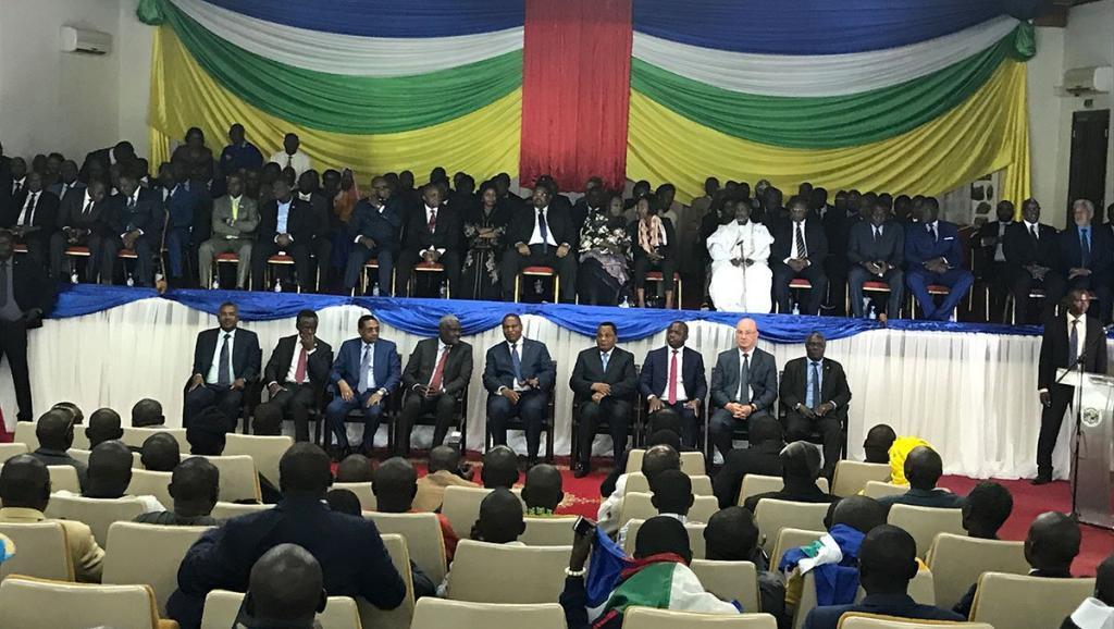 Cérémonie de signature de l'accord de paix entre le gouvernement centrafricain et les groupes armés, le 6 février 2019 à Bangui. © https://twitter.com/UN_CAR