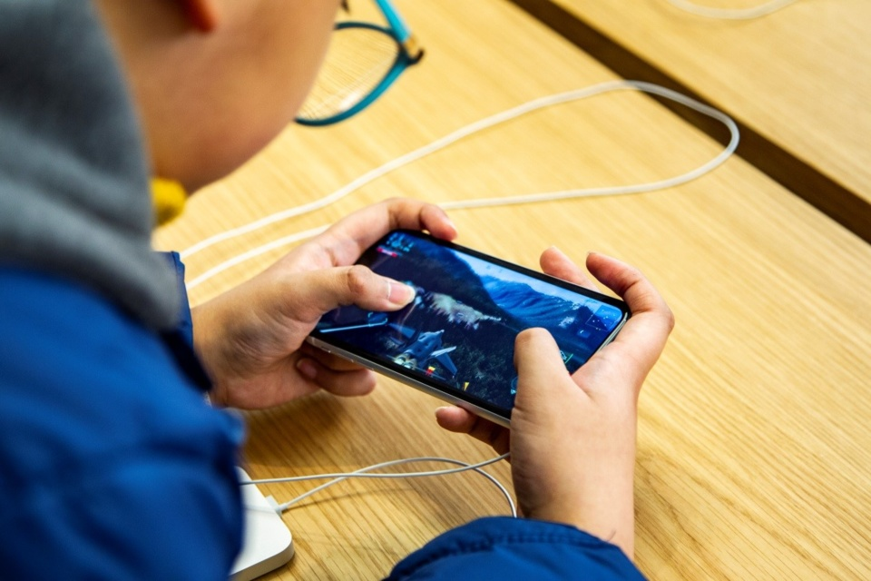 A boy plays online video games in Southeast China's Shanghai Province. Photo: CFP