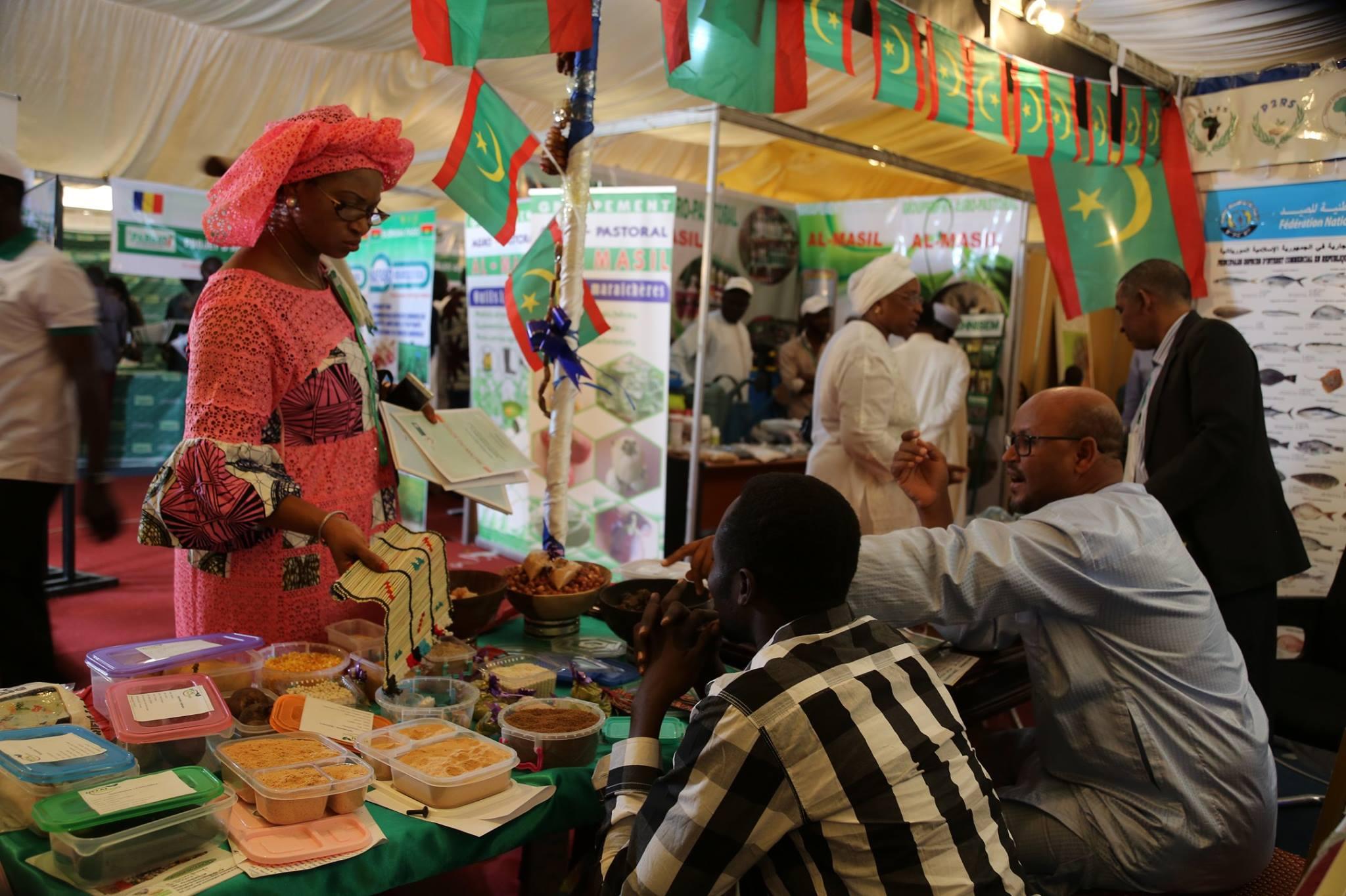 Des stands au Salon africain de l'agriculture. © SAFAGRI
