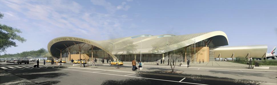Une maquette de l'aéroport internationale de Djarmaya réalisée par le cabinet d'architecture Egis Avia. © Egis