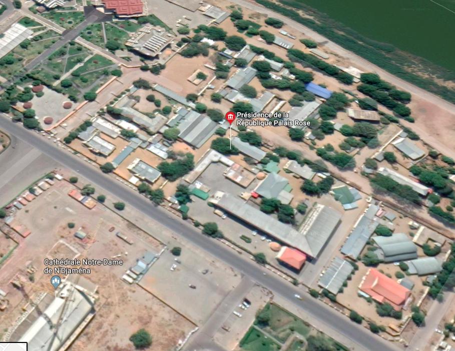 Vue aérienne du Palais présidentiel. © Google Maps