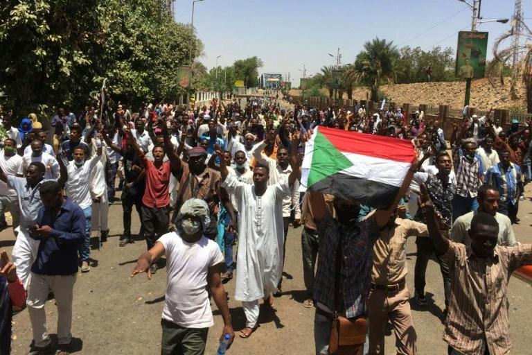 Des manifestants au Soudan. ©DR