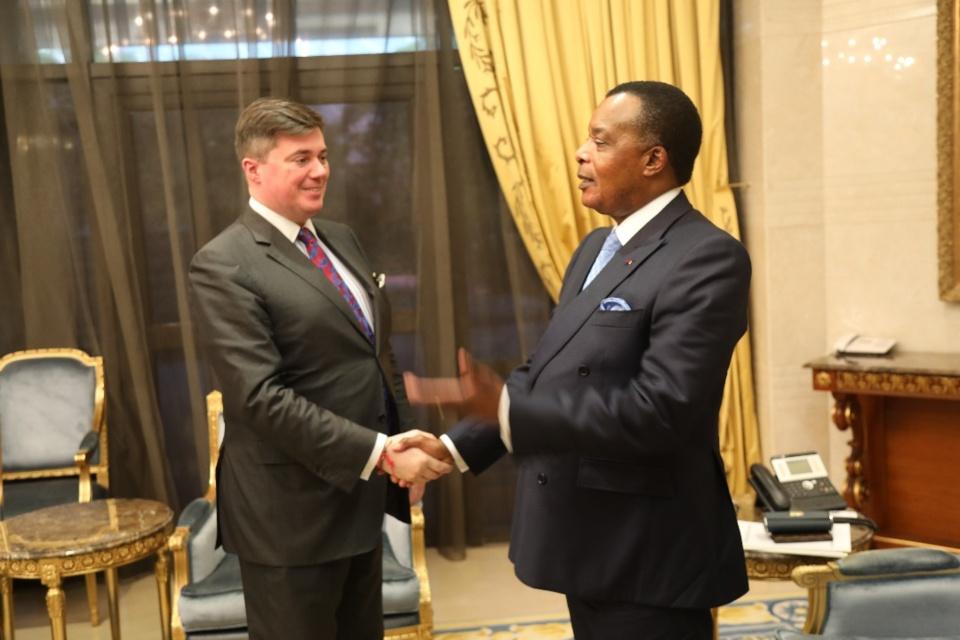 Denis Sassou N'Guesso et Christophe André Frassa.
