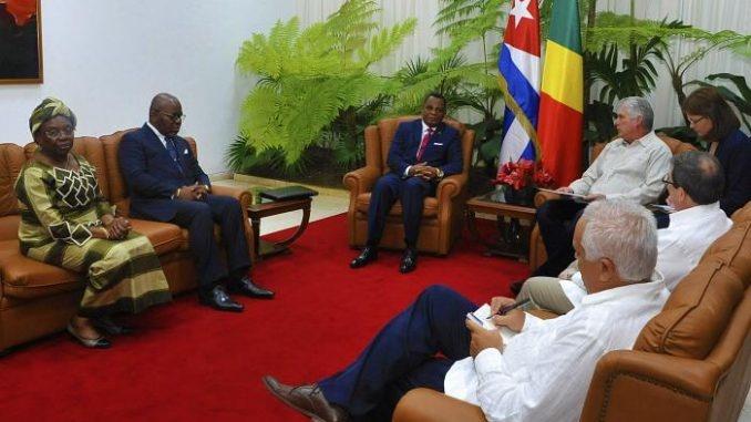La délégation congolaise et le président cubain (Photo Africa Daily Voice)