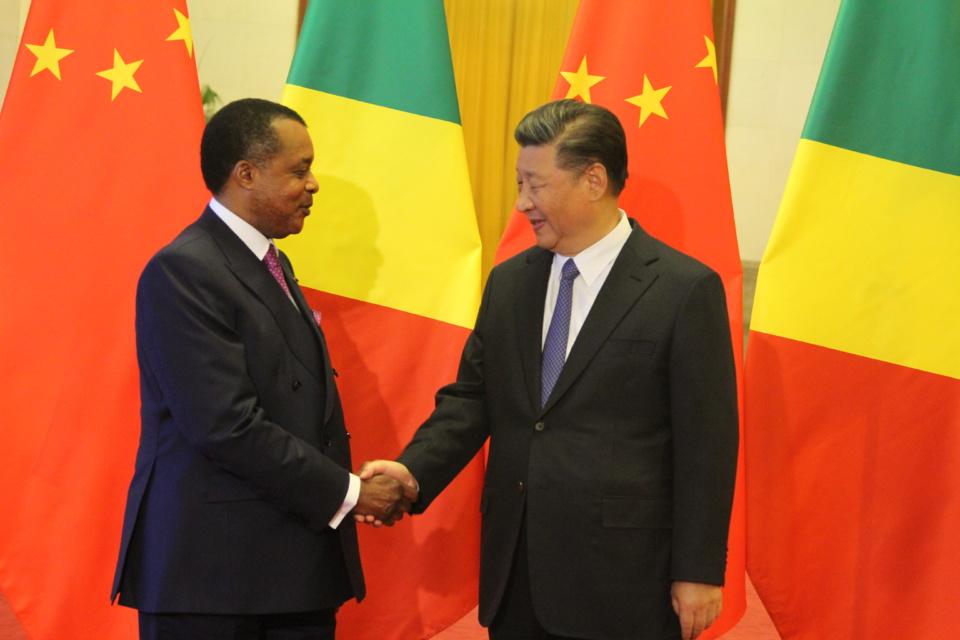 Les présidents Denis Sassou N'Guesso et Xi Jinping (Photo d'archives).