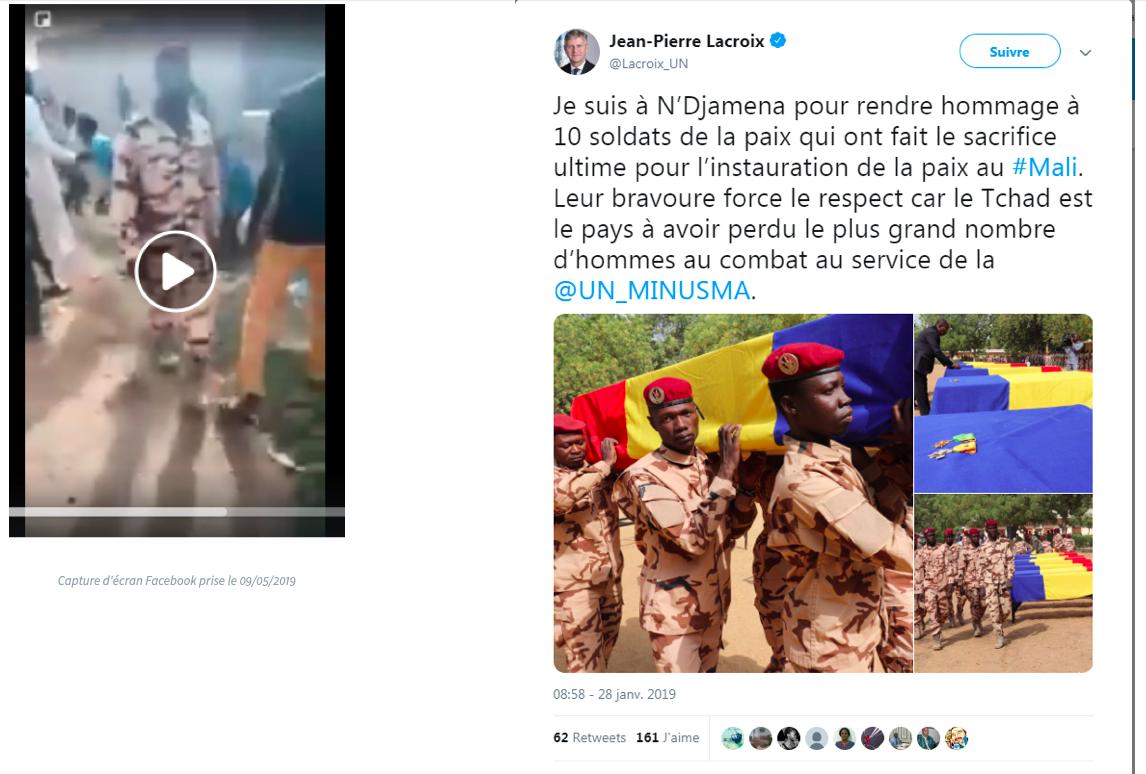 Capture du tweet du Secrétaire général adjoint aux opérations de paix des Nations unies