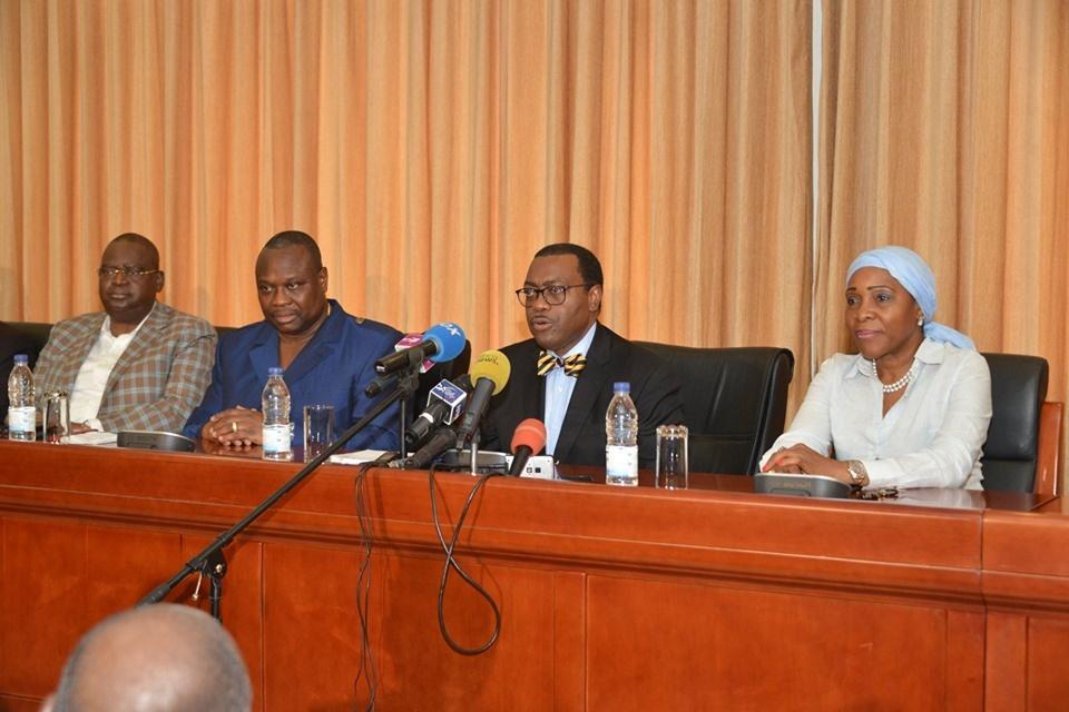 Le docteur Akinwumi Adesina, au cours de la conférence de presse.