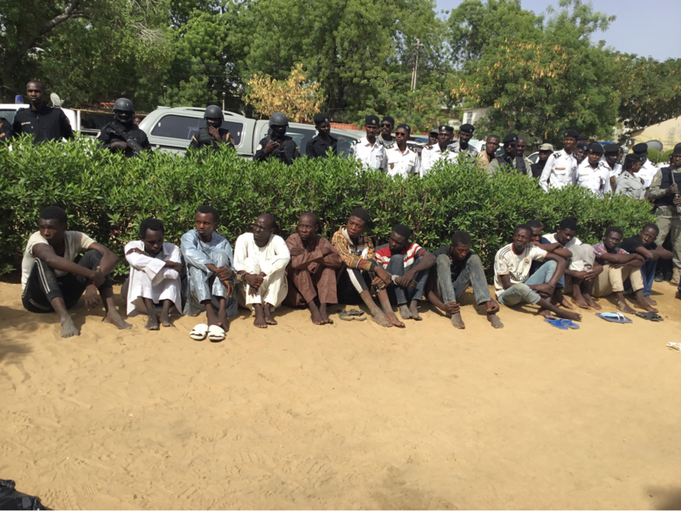 Tchad : 19 présumes malfrats arrêtés par la police. © Alwihda Info