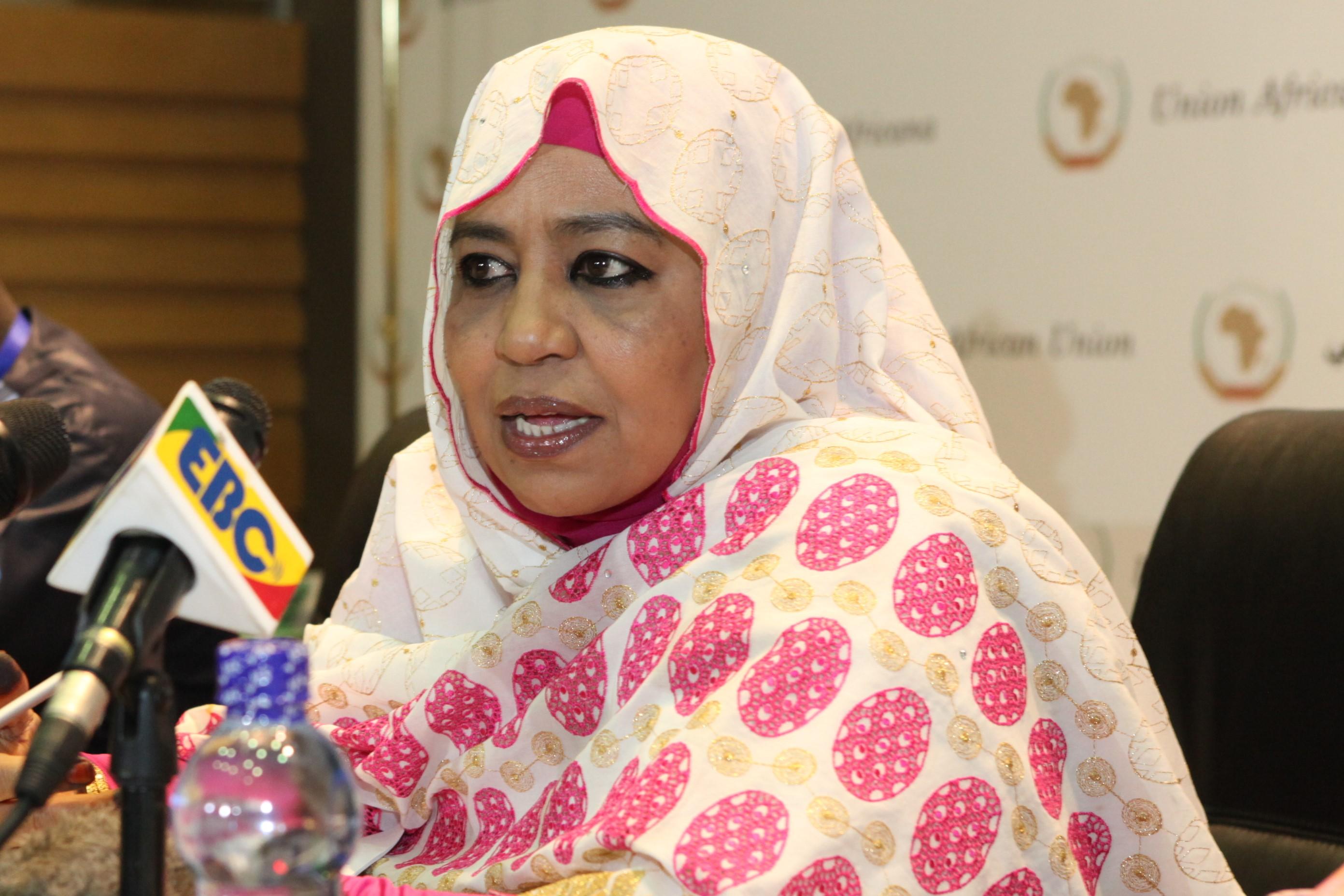Commissaire aux affaires sociales de l'Union africaine, Mme. Amira El Fadil. © DR