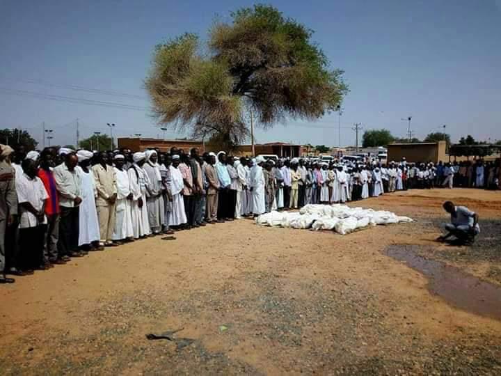 Des victimes de violences intercommunautaires enterées au Ouaddaï en novembre 2018. © Alwihda Info
