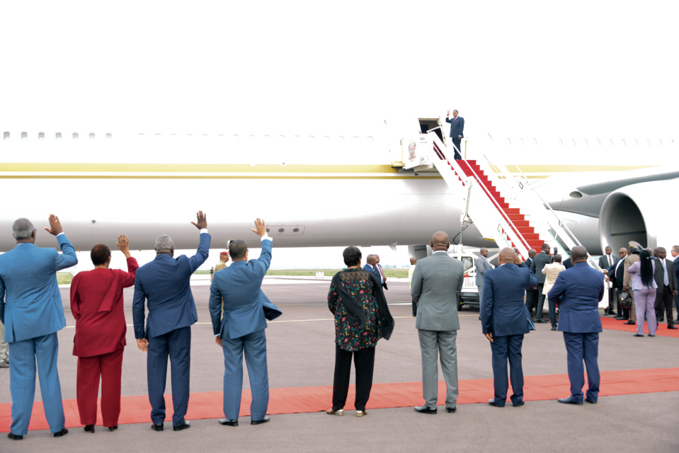 Départ de Sassou N'Guesso pour la Russie.