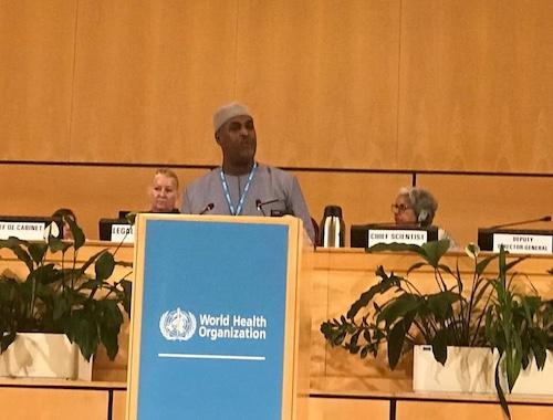 Le ministre tchadien de la Santé publique, Aziz Mahamat Saleh. © MSP