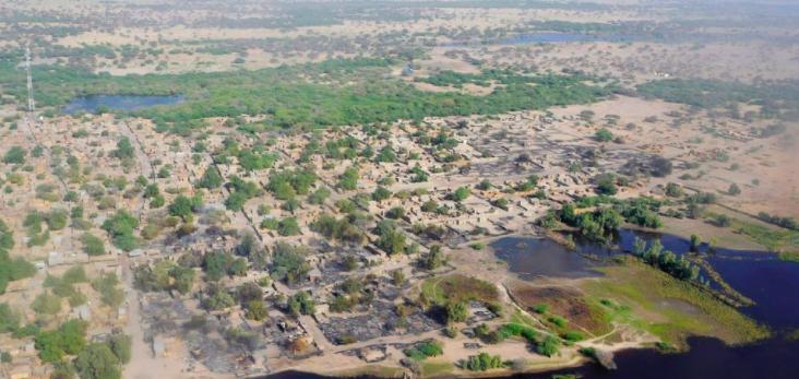 Village de Ngouboua, sur le lac Tchad. © REUTERS/Madjiasra Nako