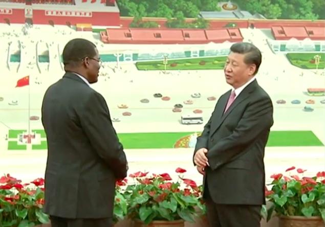 Chine : Xi Jinping reçoit les lettres de créance du nouvel ambassadeur du Tchad. © CCTV