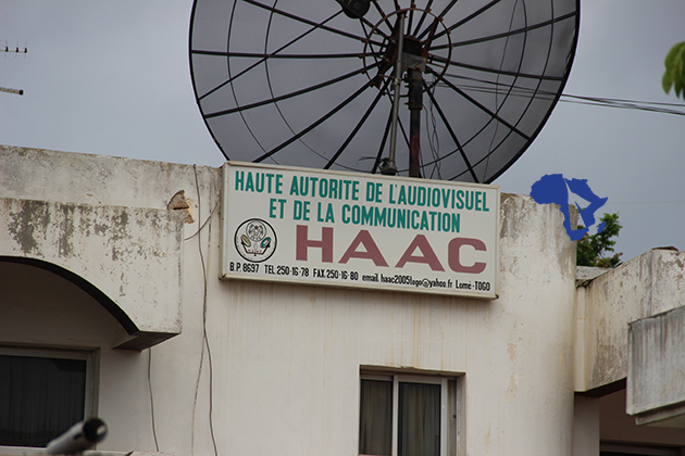 Le siège de la HAAC au Togo. © DR