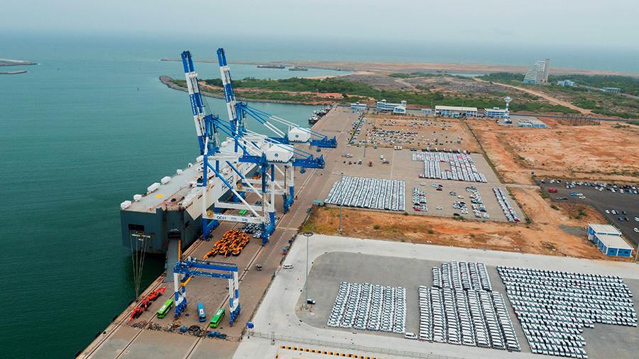 Photo shows the Hambantota Port in Sri Lanka. Photo from website of China Harbour Engineering Company