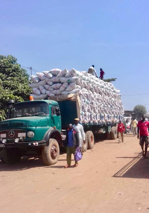 Un camion de marchandises au sud du Tchad. © Alwihda Info