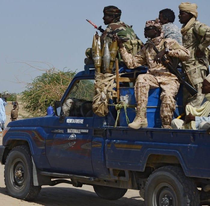 Des gendarmes au Tchad. Illustration. © DR