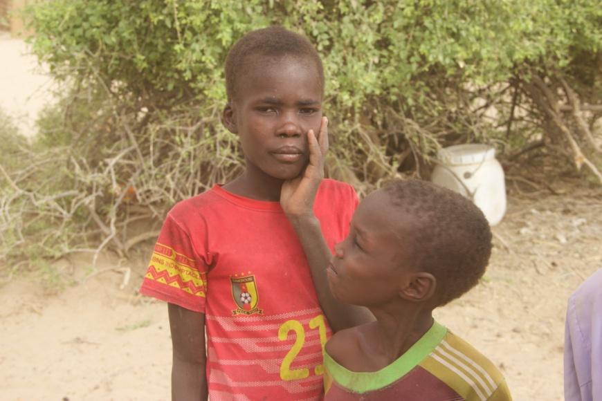 Des enfants d'ex-combattants de Boko Haram. © CEDPE
