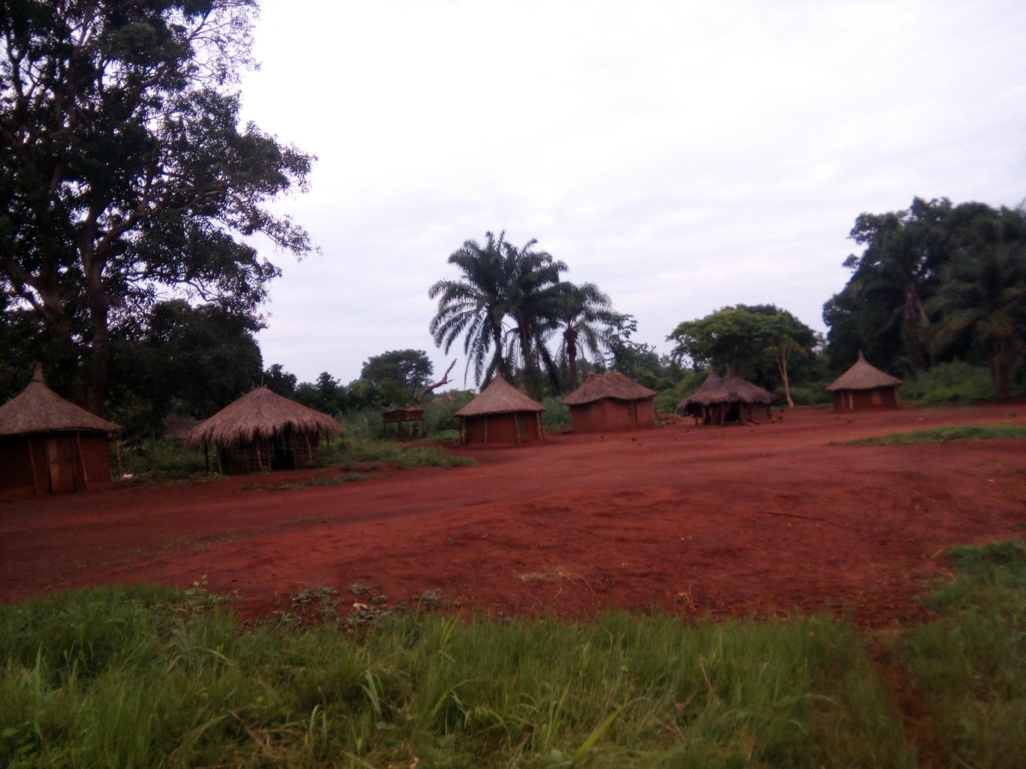 Une vue du camp des réfugiés de la RDC à Obo. © A-J.M