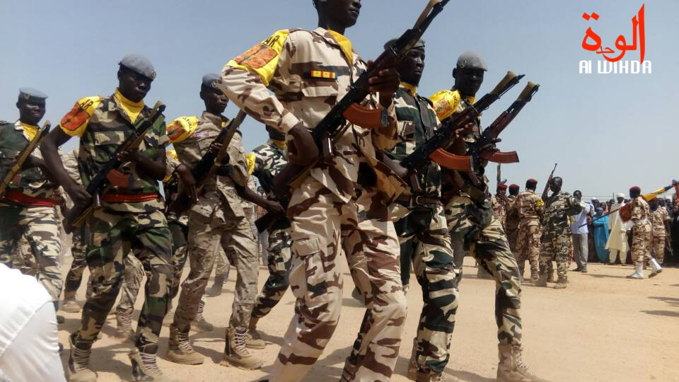 Des militaires tchadiens lors d'un défilé. Illustration. © Alwihda Info