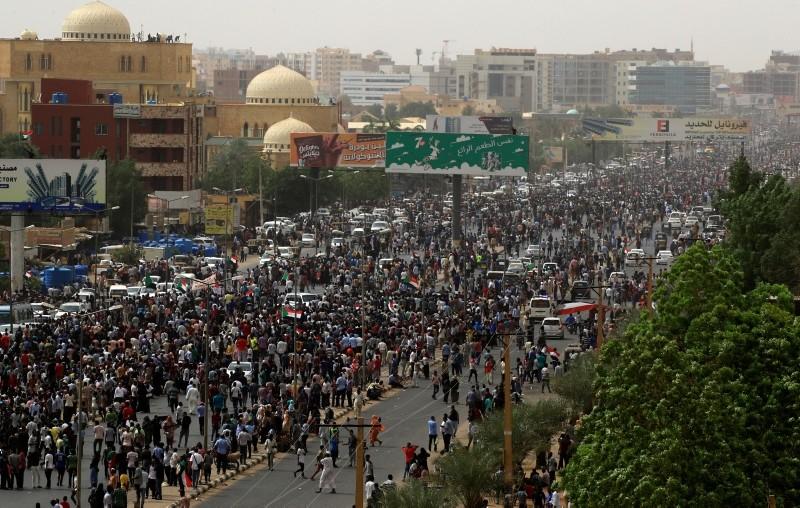 Des manifestants à Khartoum, au Soudan. © DR
