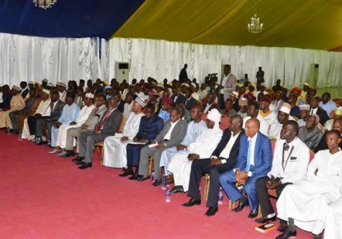Les présidents et secrétaires généraux des partis politiques réunis le 10 juillet 2019 à la Présidence du Tchad. Illustration. © PR