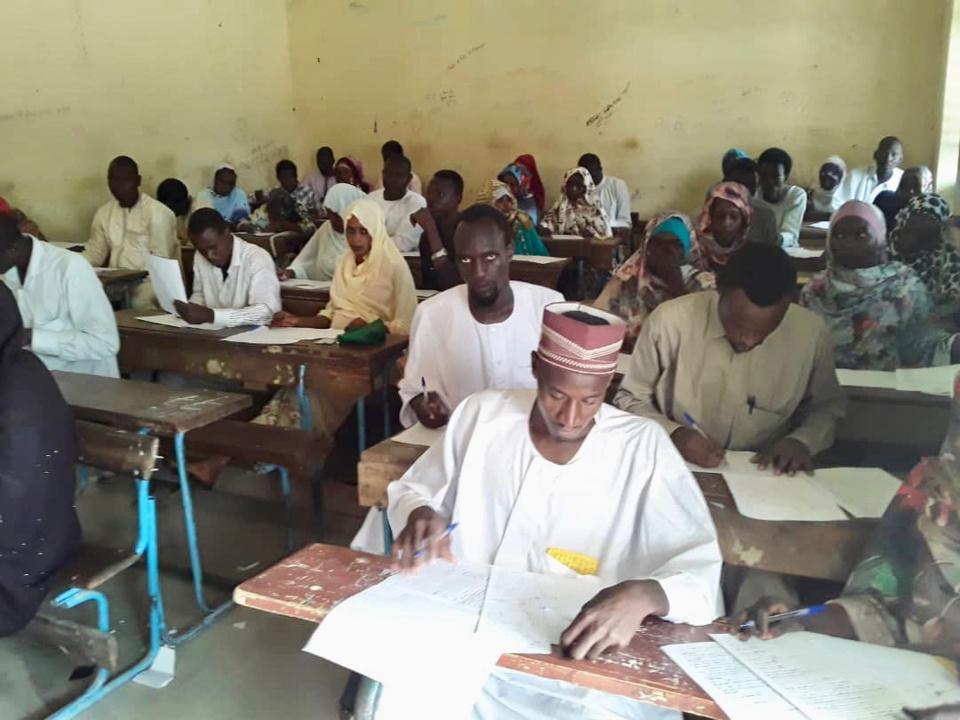 Tchad : les étudiants de l'ISESCO en examens pour le diplôme d'enseignement arabe. © Alwihda Info