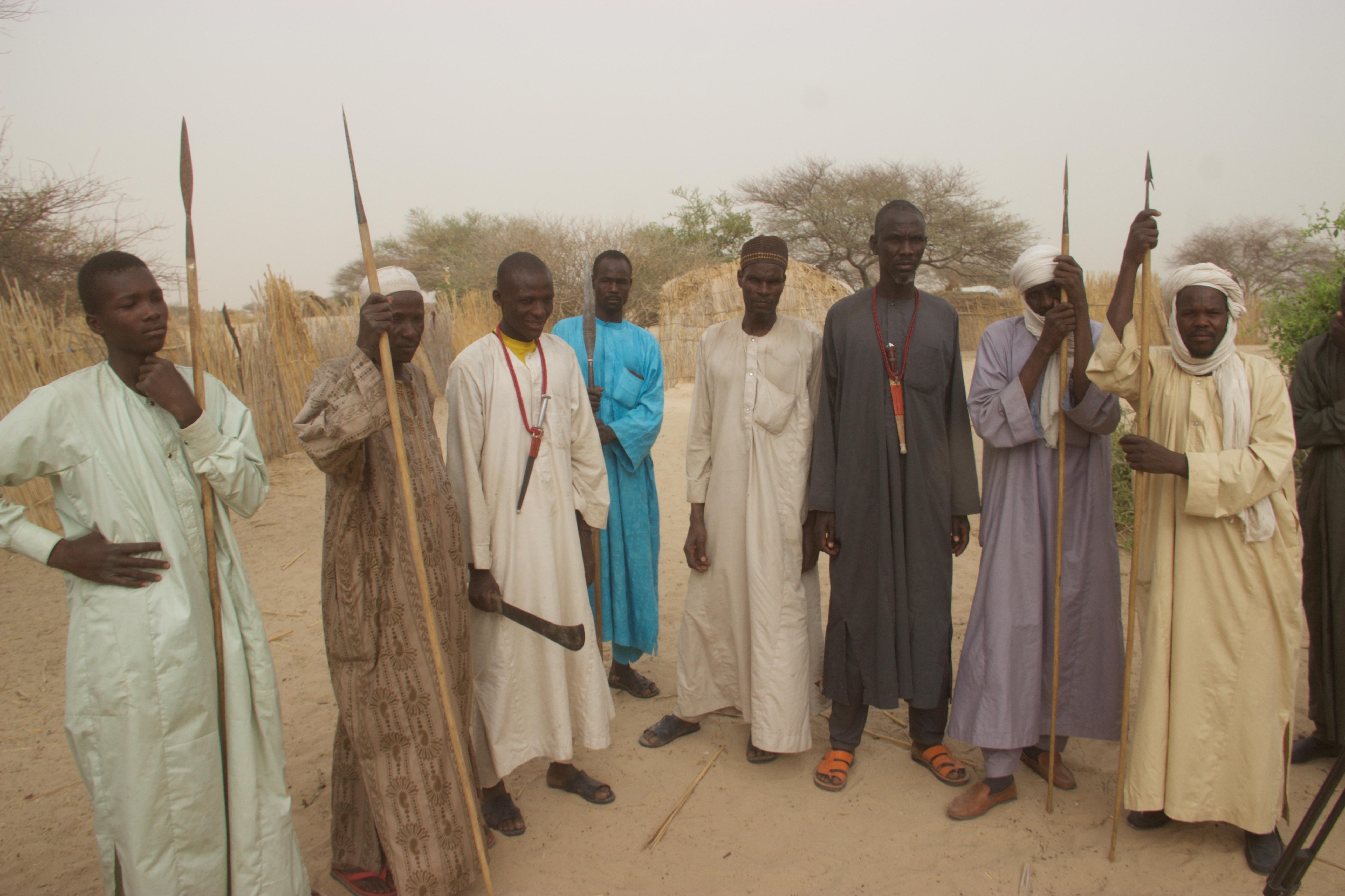 Des membres d'un comité de vigilance au Lac Tchad. © CEDPE
