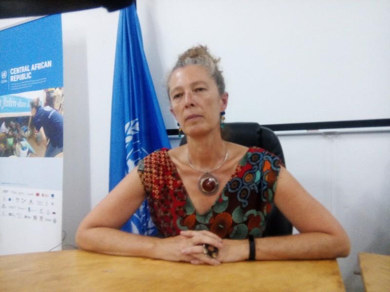 La coordonnatrice humanitaire en Centrafrique, Denise Brown. © Alwihda Info/A-J.M