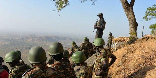 Des militaires camerounais au nord du pays. © REINNIER KAZE / AFP