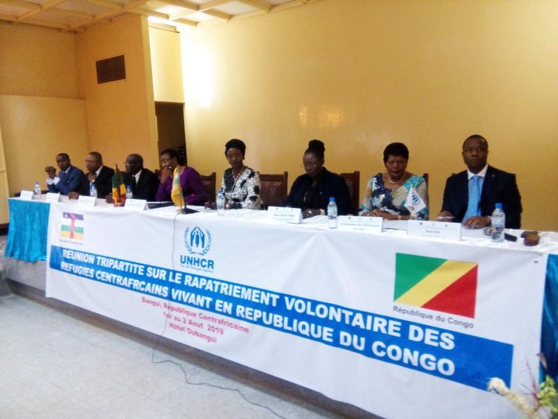 Un accord sur le rapatriement volontaire des réfugiés centrafricains vivant au Congo. © A-J.M./Alwihda