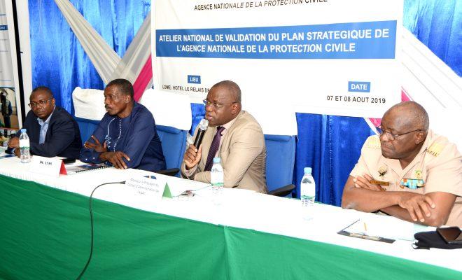Togo : le Plan stratégique de l'Agence nationale de la protection civile en cours de validation. © DR/TP.tg